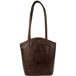 Bonn Women's Handbag, Embossed,  brown