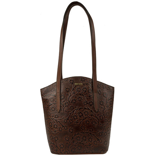 Bonn Women s Handbag, Embossed,  brown