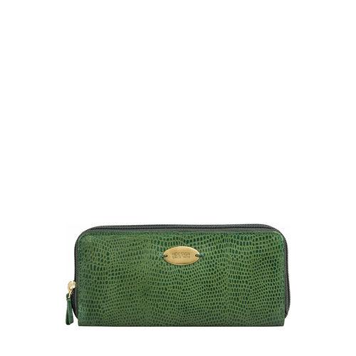 Taurus W2 (Rfid) Women s Wallet, Lizard,  emerald green