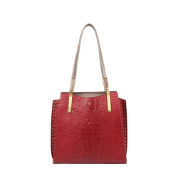 SPEAKEASY 01 WOMEN'S HANDBAG BABY CROCO,  marsala