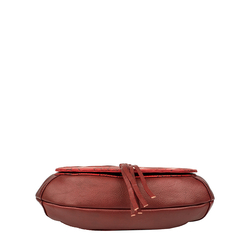 Meryl 01 Women's Handbag, E. I. Leaf Emboss Roma Split,  dark red