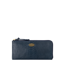 Angara W1 (Rfid) Sb Women's Wallet, Snake,  midnight blue