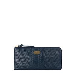 Angara W1 (Rfid) Sb Women's Wallet, Snake,  midnight blue