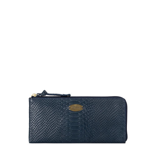 Angara W1 (Rfid) Sb Women s Wallet, Snake,  midnight blue