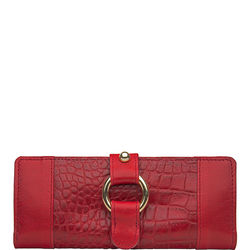 Nakasu W2(Rfid) Women's Wallet Croco Melbourne,  red