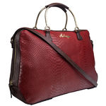 Royale 01 Satchel,  red, snake