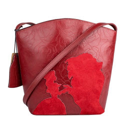 Rose 03 Women's Handbag, Rose Emboss Mel Ranch Split,  red