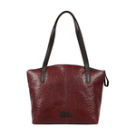 Maple 03 Sb Women s Handbag Ostrich Embossed Melbourne Ranch,  brown