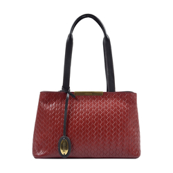 LEO 01 SB WOMEN'S HANDBAG WOVEN MELBOURNE RANCH,  red