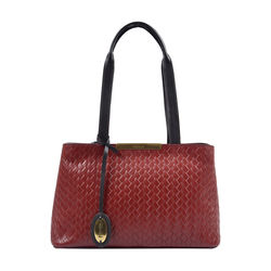 Leo 01 Sb Women's Handbag, Hdn Woven Melbourne Ranch,  red