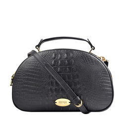 Hidesign X Kalki Infinite 01 Women's Handbag, Baby Croco,  black