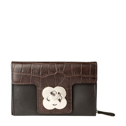 Nebula W3 Women's Wallet, croco,  brown