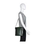 Scorpio 03 Sb Women s Handbag Croco,  emerald green