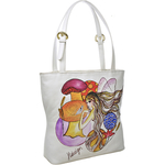 The White Rabbit Handbag,  white, cow deer