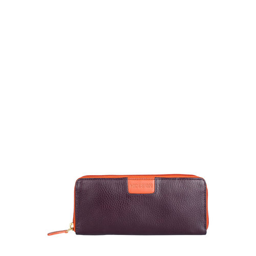 Meghan W3 Women s Wallet, Cow Deer Melbourne Ranch,  aubergine