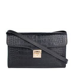 Stampa 02 Women's Handbag Croco,  black
