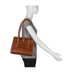 Mocha 01 Women s Handbag, Croco,  tan
