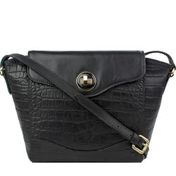 SB GISELE 02 WOMEN'S HANDBAG CROCO,  black