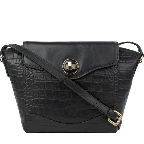 Sb Gisele 02 Women s Handbag, Croco Melbourne Ranch,  black