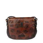 Meryl 01 Women s Handbag, E. I. Leaf Emboss Roma Split,  tan