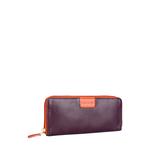 Meghan W3 (Rfid) Women s Wallet, Cowdeer Melbourne Ranch,  aubergine