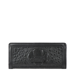 GLAM W2 RF WOMENS WALLET BABY CROCO,  black