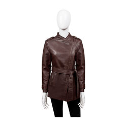 Bianca Women's Jacket Polished Lamb,  brown, m