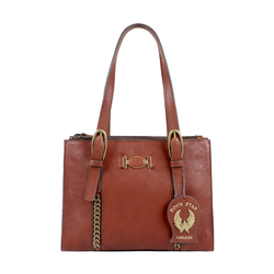 METAL 01 WOMENS HANDBAG KALAHARI,  brown