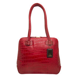 Estelle Small Handbag, croco,   red