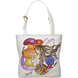 The White Rabbit Handbag, cow deer,  white