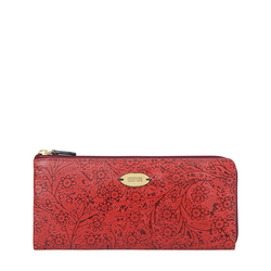VIOLA W1 SB WOMENS WALLET FLOWER EMBOSSED,  red