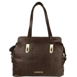 Harajuku 01 Handbag, baby croco,  brown