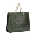 JITTERBUG 02 WOMENS HANDBAG CROCO,  emerald green