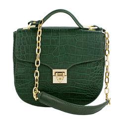 Sb Elsa Handbag, croco,  emerald
