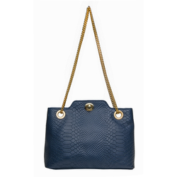 Sb Alya 01 Women's Handbag, Snake,  blue