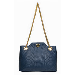 Alya 01 Women's Handbag Snake,  blue