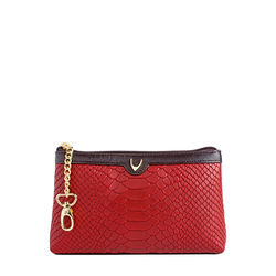 Daphne 02 Cosmetic pouch, snake,  red