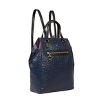 JAZZ 01 WOMEN S BACKPACK OSTRICH EMBOSS,  midnight blue