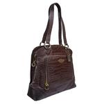 Luna 01 Handbag,  brown, croco