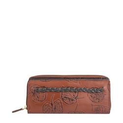 Meryl W1 Women's wallet, E. I. Leaf Emboss Roma Melbourne Ranch,  tan
