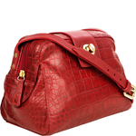 Paulina 02 Women s Handbag, Cement Croco Melbourne,  red