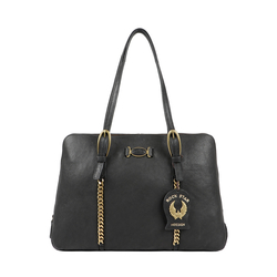 METAL 03 WOMENS HANDBAG KALAHARI,  black