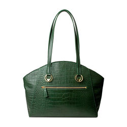 Bonnie 01 Handbag, croco,  emerald