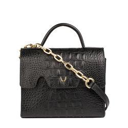 Mb Tracey Sling bag,  black, baby croco