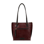 Maple 02 Sb Women s Handbag Ostrich Embossed Melbourne Ranch,  brown