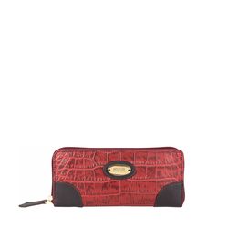 Saturn W2 Sb (Rfid) Women's Wallet, Croco Melbourne Ranch,  red