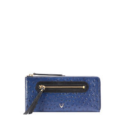JAZZ W1 (RFID) WOMEN'S WALLET OSTRICH EMBOSS,  midnight blue