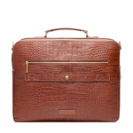 DRAPER 01 BRIEFCASE CROCO,  tan