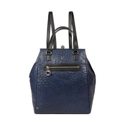 JAZZ 01 WOMEN'S BACKPACK OSTRICH EMBOSS,  midnight blue