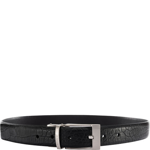 Alex Mens Belt, Croco 40,  black